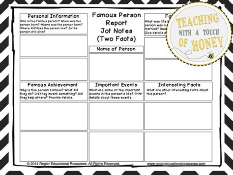 famous person report tiered report writing templates