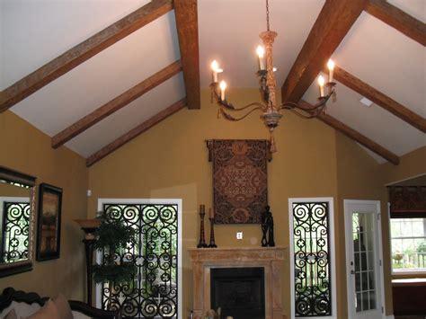 luxury ceiling design  beams faux wood workshop