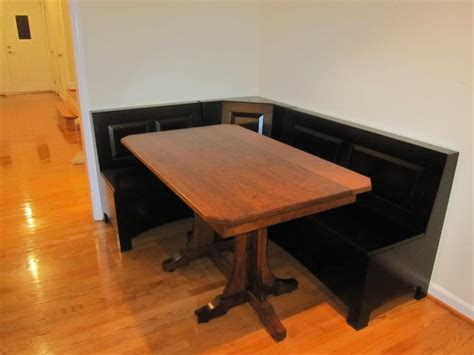 corner bench tables for kitchen charming corner kitchen table breakfast nook black wooden