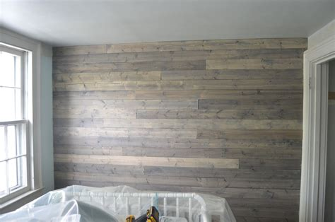 Gray Paneling by How To Fake A Reclaimed Wood Plank Wall