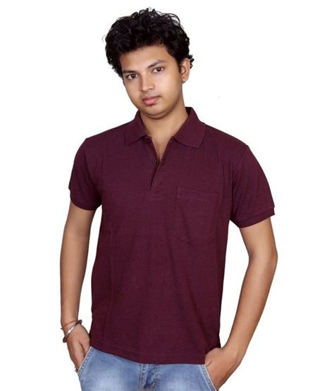 How To Buy Something Online With A Visa Gift Card - visa maroon cotton casual t shirt buy visa maroon cotton casual t shirt online at