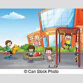 Schoolyard Illustrations and Clipart. 496 Schoolyard royalty free ...