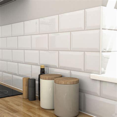 trentie white gloss ceramic wall tile pack