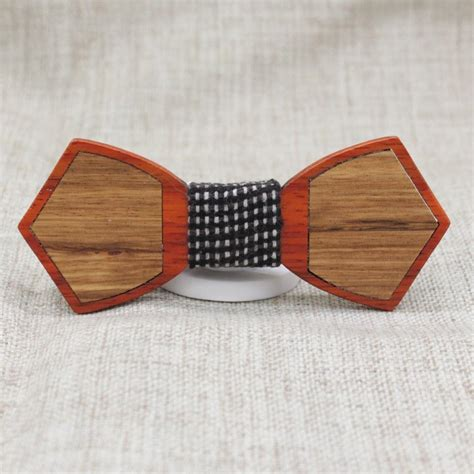 Wooden Bowtie Slim 1 checked outline wood bow tie bow ties for bow selectie