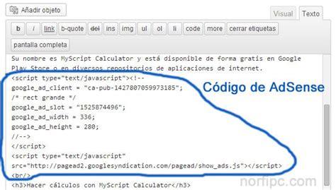 codigos para imagenes de html como insertar anuncios de adsense en wordpress