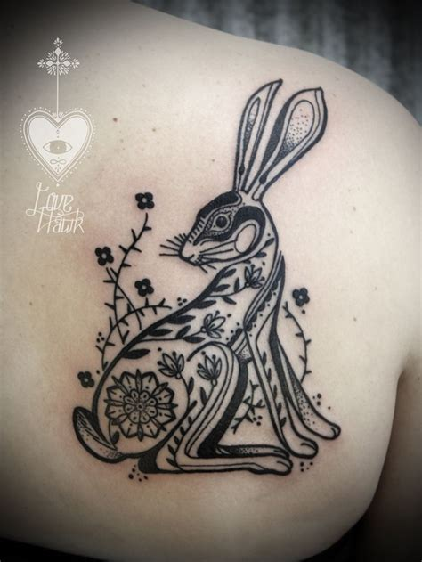 david hale tattoo david hale rabbit tattoos