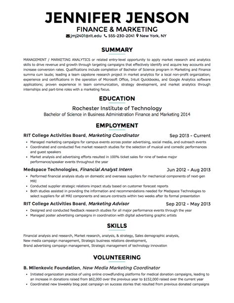 Text Resume Format by The Best Websites Tools To Make A Cv Resume Tech Kt