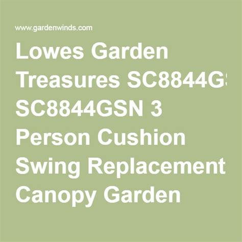 garden treasures 3 person swing cushion replacement 17 best ideas about replacement canopy on pinterest