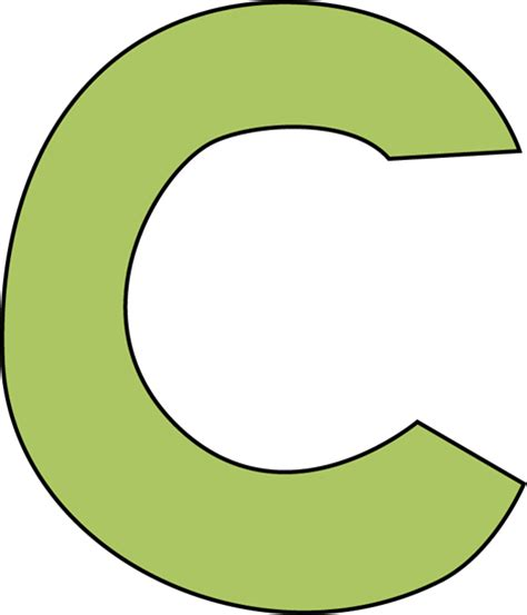 c green green letter c clip green letter c image