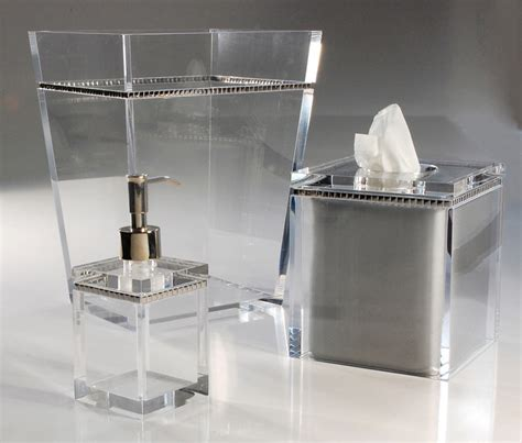 lucite bathroom accessories mike ally ice with silver lucite clear bathroom sets