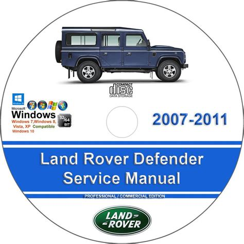 land rover defender 2007 2008 2009 2010 2011 factory service repair manual for sale carmanuals com