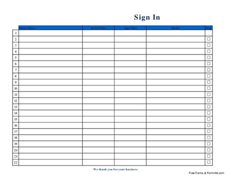 Simple Sign In Sheet Template by Aa Na Meeting Sign Sheets Memes