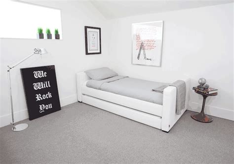 modern dorma upholstered full bed with trundle by monte design
