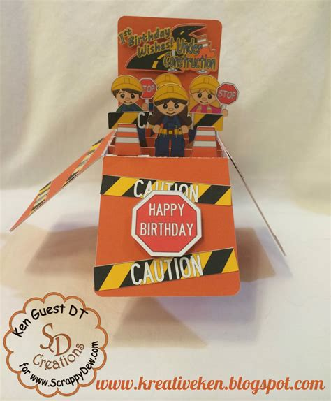 cards in card in a box construction birthday ken s kreations