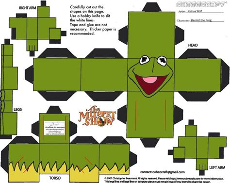 kermit the frog papercraft toys the