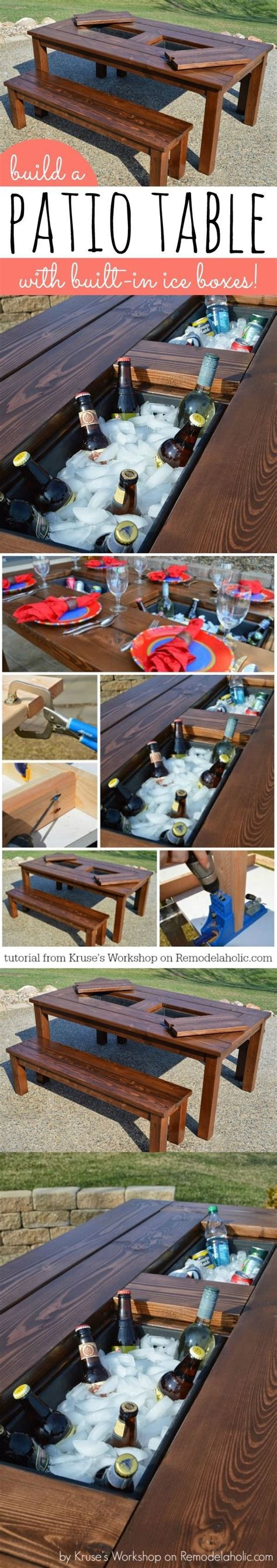 build a patio table build a patio table with built in boxes pictures