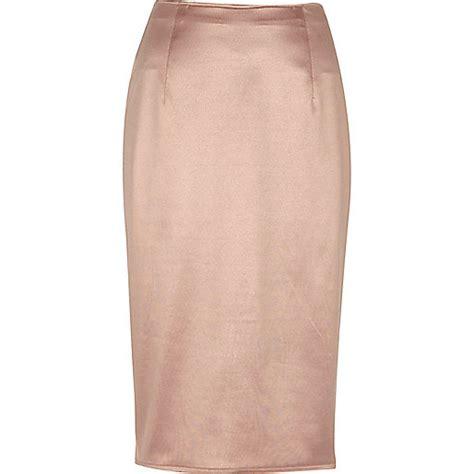 blush pink soft pencil skirt midi skirts skirts