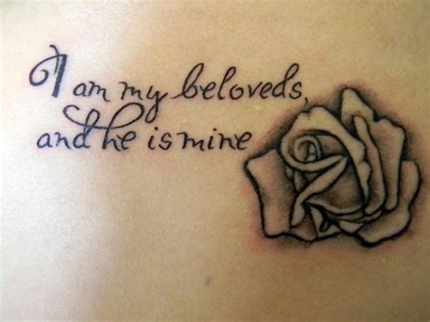 i am second tattoo i am my beloveds and he is mine white my second