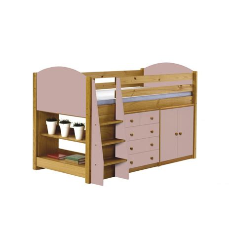 Mid Sleepers Beds by Verona Midsleeper Bed In Solid Pine Available As Set With