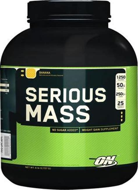 Protein Mass Serious Mass Weight Gainer By Optimum Nutrition Protein