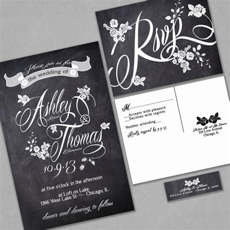 chic wedding invitations etsy chalkboard style wedding invitation www etsy shop