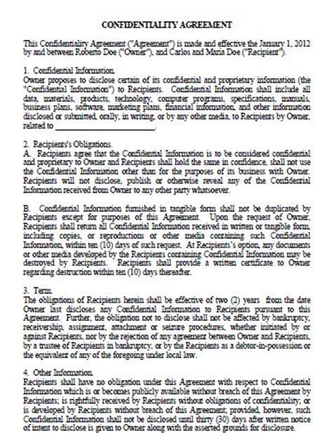 formato de carta de responsabilidad y confidencialidad acuerdo de confidencialidad tusdocumentospr com