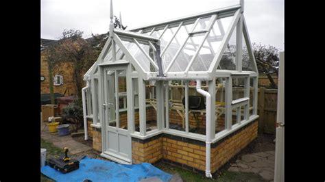 wooden greenhouse  dwarf brick wall youtube