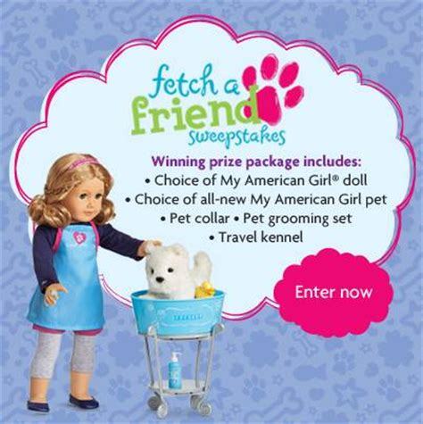 American Girl Doll Sweepstakes - american girl fetch a friend sweepstakes