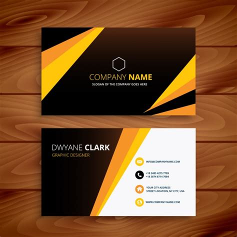 Namecard Kode Kartu Nama 1 Desaincetak creative yellow and black business card vector free