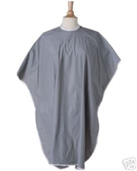 zippered hair cutting smock in can salon hairdressers barbers cutting cape gown smock hair