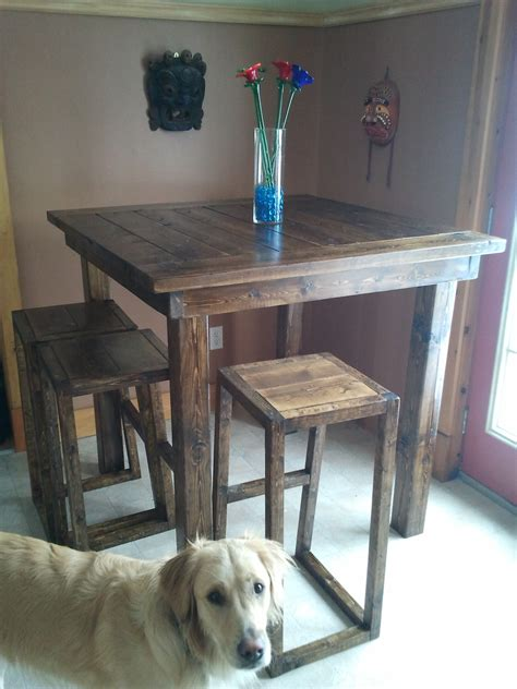 high top bar table plans white pub style table diy projects