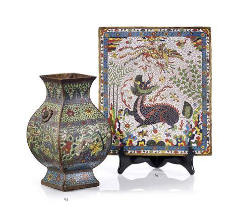 Bordure De Jardin En 1368 by Ecran En Emaux Cloisonnes Chine Dynastie Ming 1368