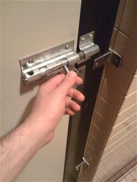 my bathroom door is locked bathroom stall door lock rick lax