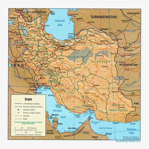 geographical map of iran iraq turkey and iran