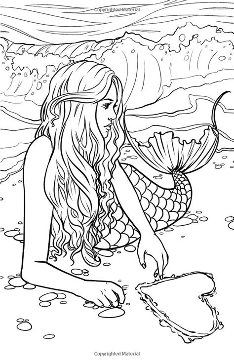Detailed Mermaid Coloring Pages 1893 best coloring pages for adults printables and