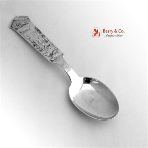 Birth Record Spoon Birth Record Spoon 813 Silver 1951 From Berrycom