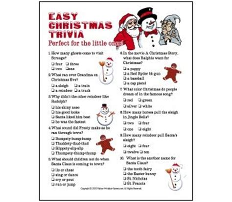 easy christmas games for adults printable trivia questions easy trivia for or adults