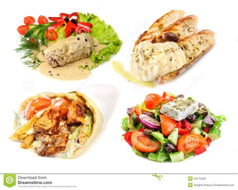 cadenas de comida rapida saludable greek and mediterranean fast street food stock photo