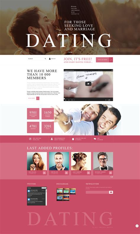 joomla dating template dating agency joomla template