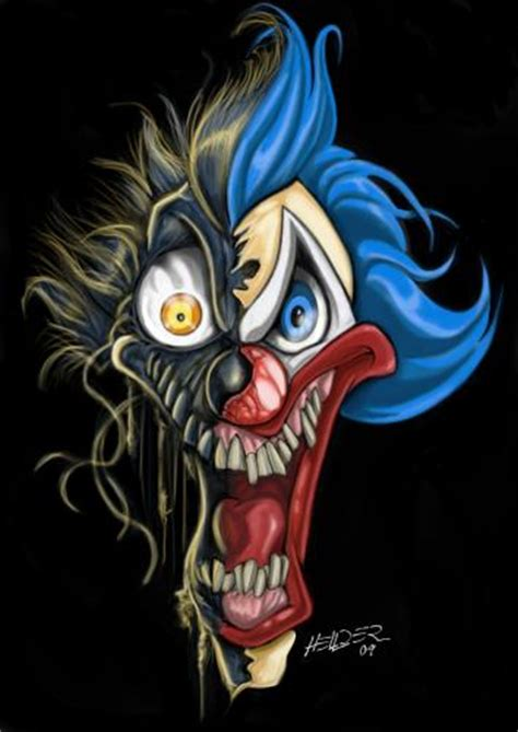 new school clown tattoo clown by hellder gonzales famous people cartoon toonpool