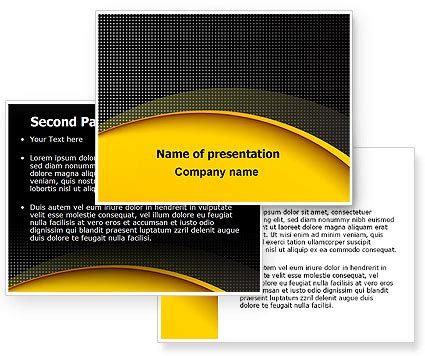 theme powerpoint yellow yellow arch theme powerpoint template poweredtemplate