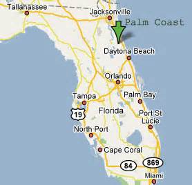 Palm Coast Florida Map by Sighting Reports 2006