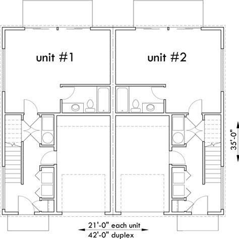 modern duplex house plans studio house plans