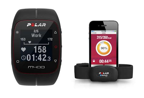 Polar M400 Gps With H7 Hrm polar m400 rate monitor with h7 sensor black