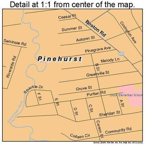 pinehurst massachusetts map 2553680
