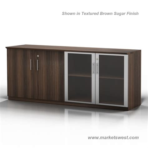 Low Glass Cabinet by Medina Series Low Wall Cabinet Wood Glass Combination