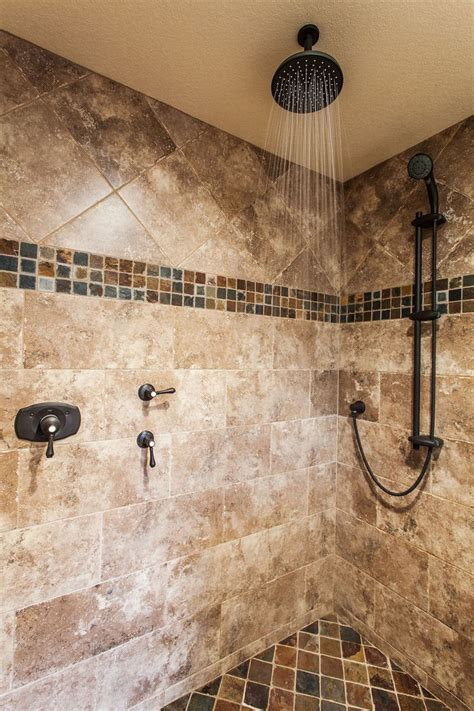 mosaic border bathroom tiles travthursday features our trav fontane in walnut with a