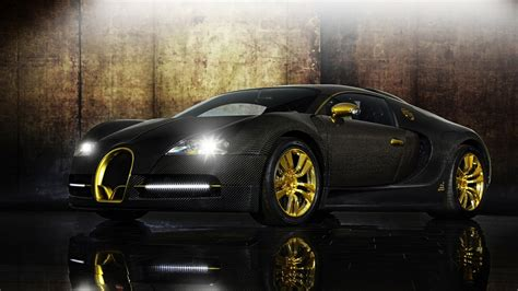 Bugatti Veyron Gold Wallpaper 1920x1080 5078