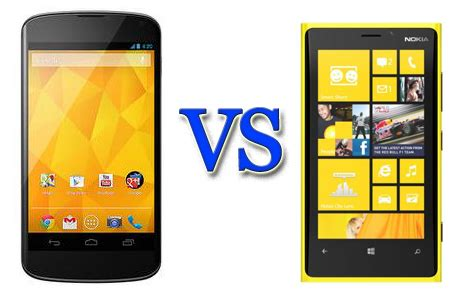 Hp Nokia Lumia Jelly Bean lg nexus 4 vs nokia lumia 920 android 4 2 takes on windows phone 8