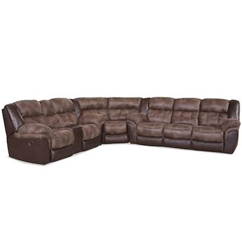 Sectional Sofas With Cup Holders Homestretch 139 Casual Sectional With Storage Console And Cup Holders Royal Furniture